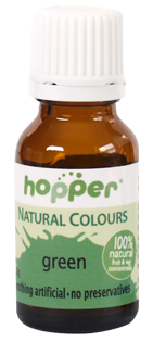 Hopper natural colour - kiwi green. Perfect for cake decorating, gluten free, dairy free, egg and nut free. Vegan