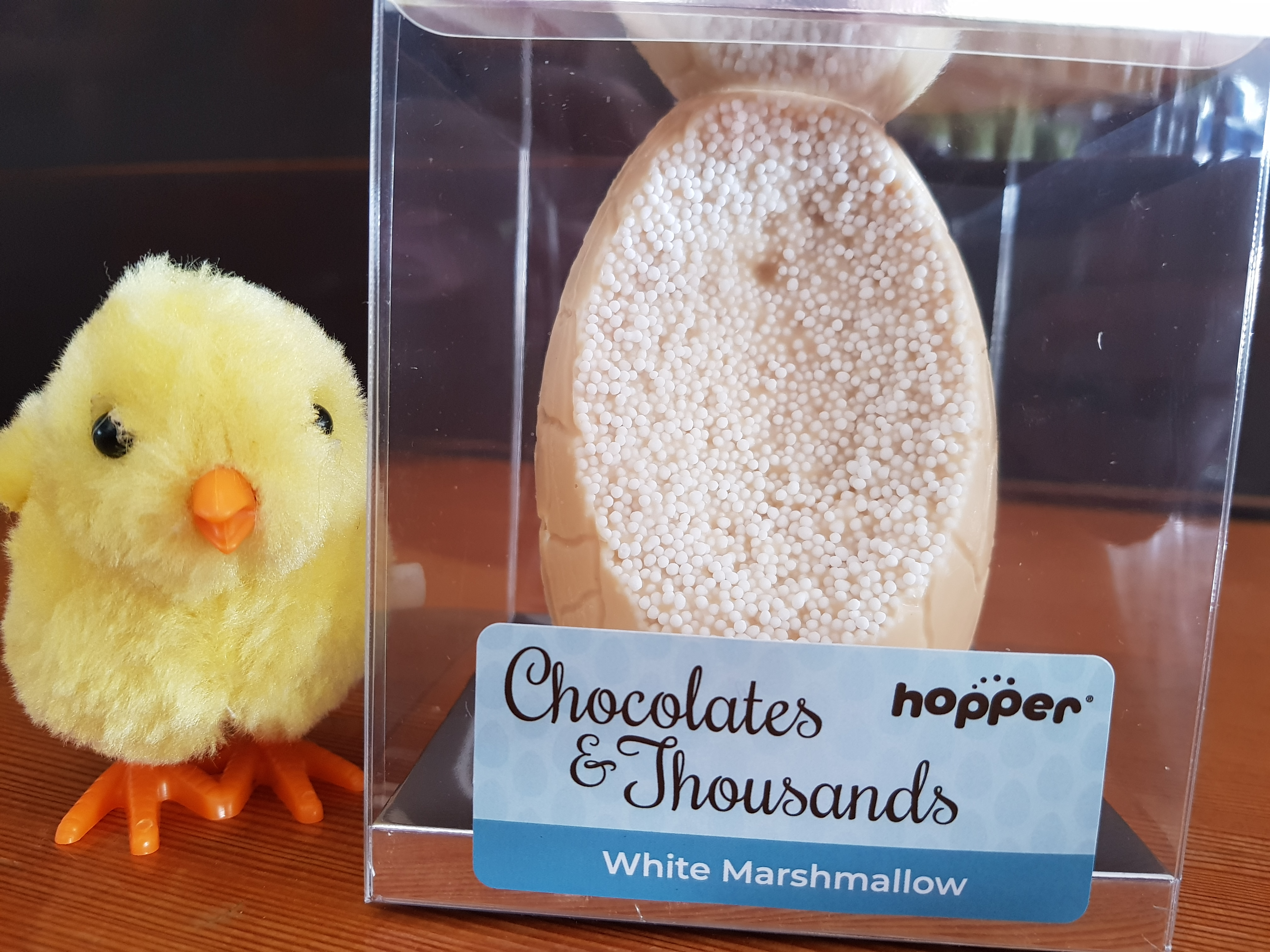 Hopper Chocolates and Thousands, White Marshmallow Gluten, Dairy and Nut free Easter Egg