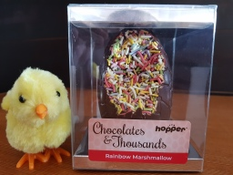 Hopper Chocolates and Thousands Rainbow Marshmallow Dairy, Gluten and Nut free Easter Egg