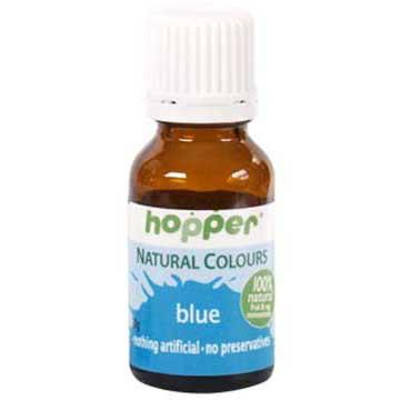 hopper natural blue food colour, gluten, dairy, egg and nut free. Vegan