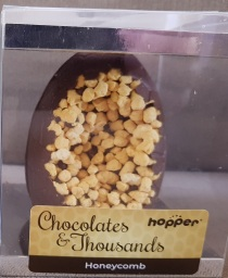 Hopper Chocolates and Thousands HOneycomb Egg, Gluten, Dairy, Egg and Nut Free. Vegan